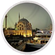 The Mosque Round Beach Towel