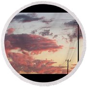 The Most #amazing #sunset Over #austin Round Beach Towel