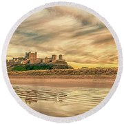 The Most Beautiful Castle In The World Round Beach Towel