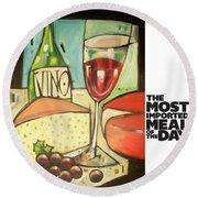 The Most Imported Meal Round Beach Towel