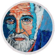 The Most Interesting Man In The World Round Beach Towel