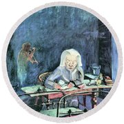 The Mother Of Sonia Gramatte By Walter Gramatte Round Beach Towel