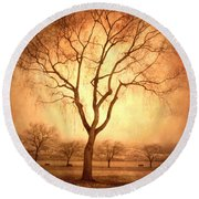 The Mother Tree Round Beach Towel