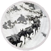 The Mule Pack Round Beach Towel