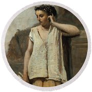 The Muse. History Round Beach Towel