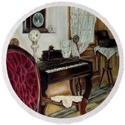 The Music Room Round Beach Towel
