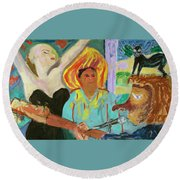 The Musician, The Big Easy Round Beach Towel