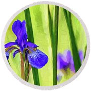 The Mystery Of Spring - Paint Round Beach Towel