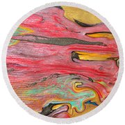 The Mystic Delta Round Beach Towel by Julia Apostolova