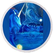 The Naeyad With Cyro And Starchild Round Beach Towel