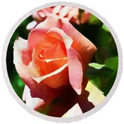 The Name Of A Rose Is Beauty Round Beach Towel