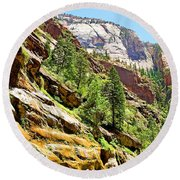 The Narrows Study 1 Round Beach Towel