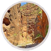 The Narrows Study 2 Round Beach Towel