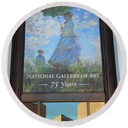 The National Gallery Of Art Is 75 Years Old Round Beach Towel