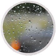 The Natural Lens That Is A Raindrop Round Beach Towel