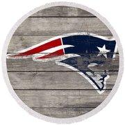 The New England Patriots 3c Round Beach Towel