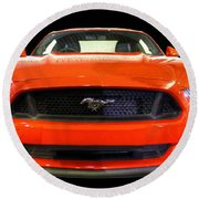 The New Mustang Round Beach Towel