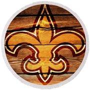 The New Orleans Saints 3b Round Beach Towel