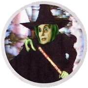 The New Wicked Witch Of The West Round Beach Towel
