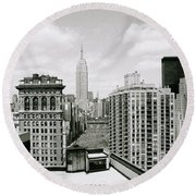 The New York Skyline Round Beach Towel