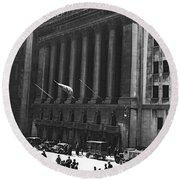 The New York Stock Exchange Round Beach Towel