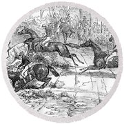 The Newport Pagnel Steeple Chase Round Beach Towel