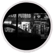 The Night Side Of Town - New York Round Beach Towel