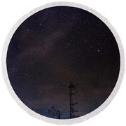 The Night Sky Round Beach Towel