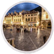 The Nights Of Dubrovnik Round Beach Towel
