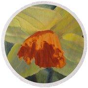 The Nodding Daffodil Round Beach Towel
