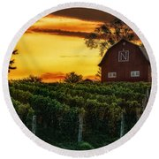 The North Country Round Beach Towel