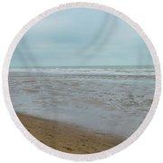 The North Sea Landscape Round Beach Towel