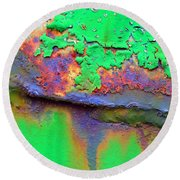 The Northern Lights Round Beach Towel