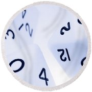 The Numbers Game Round Beach Towel