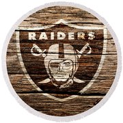 The Oakland Raiders 1f Round Beach Towel