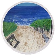 The Ocean View Round Beach Towel