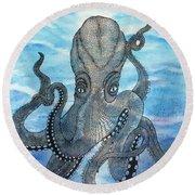The Octopus 3 Round Beach Towel