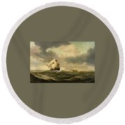 The Olbers At Sea Round Beach Towel