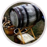 The Old Beer Barrel Round Beach Towel