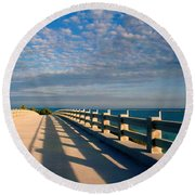 The Old Bridge Round Beach Towel