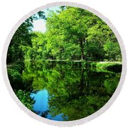 The Old Canal ... Round Beach Towel