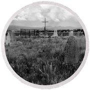 The Old Cemetery At Galisteo Round Beach Towel