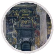 The Old Church - Biserica Veche  Round Beach Towel