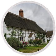 The Old Cottage Micheldever Round Beach Towel