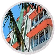 The Old Deco Round Beach Towel