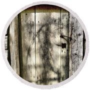 The Old Door Round Beach Towel