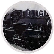 The Old Engine Round Beach Towel
