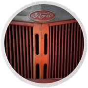 The Old Ford Round Beach Towel