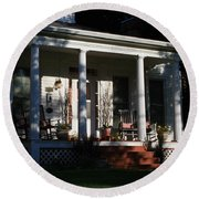The Old Front Porch Round Beach Towel