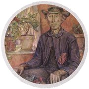 The Old Gardener 1921 Round Beach Towel